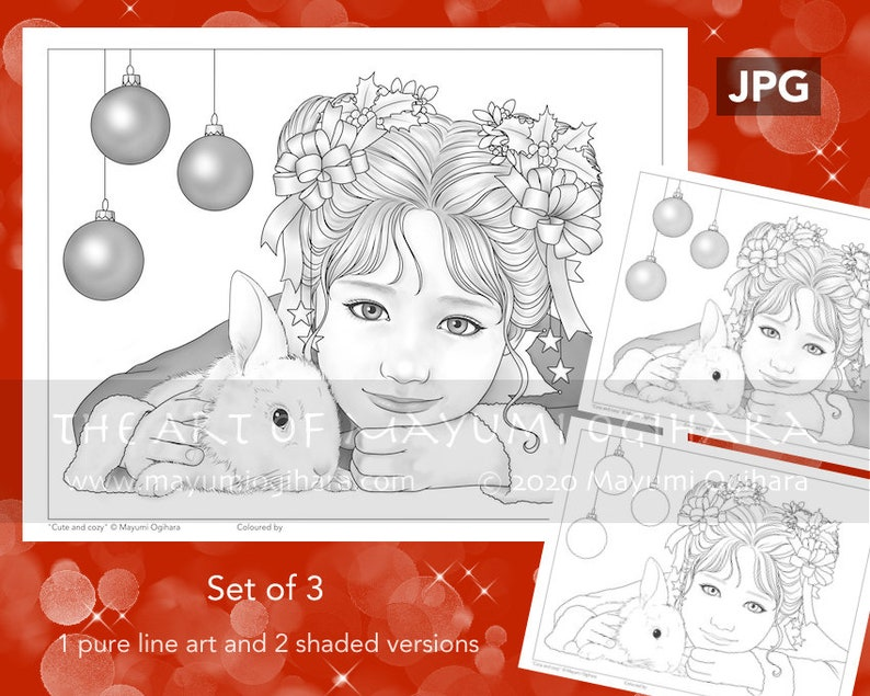 Cute and Cozy  VARIATION PACK  by Mayumi Ogihara set of 3 image 0