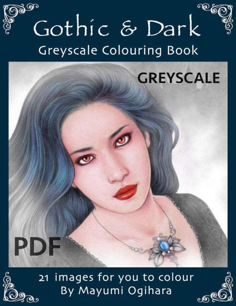 Gothic & Dark   GREYSCALE colouring book by Mayumi Ogihara  image 0