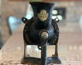 RARE SPONG Coffee Mill Grinder England 1 Cast Iron Vintage Collector Wall Mount
