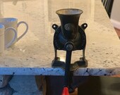 SPONG Coffee Mill Grinder England 1 Cast Iron Vintage Collector 1950s Counter Wall Mount
