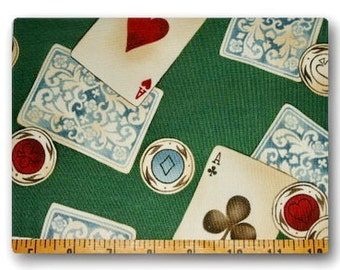 """VHTF """" Aces Up """" by Alexander Henry  Fat Quarter 18 x22 inches OOP"""
