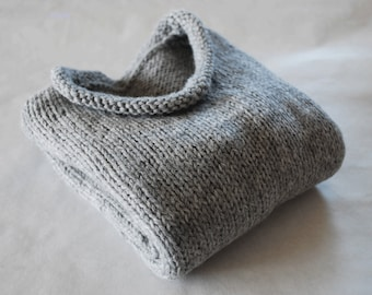 Little Mans Rolled Neck Sweater