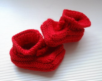 Hand Knit Baby Booties Newborn to 6 Months in Your Choice of Color