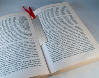 Silver bookmark customisable with your special quote