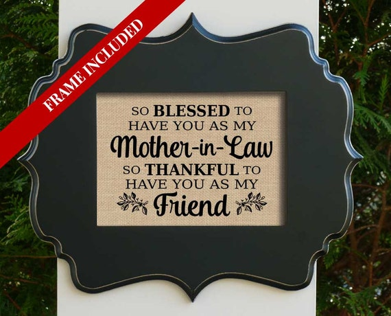 Mother In Law Gift Gift For Mother In Law Mothers Day Gift Etsy
