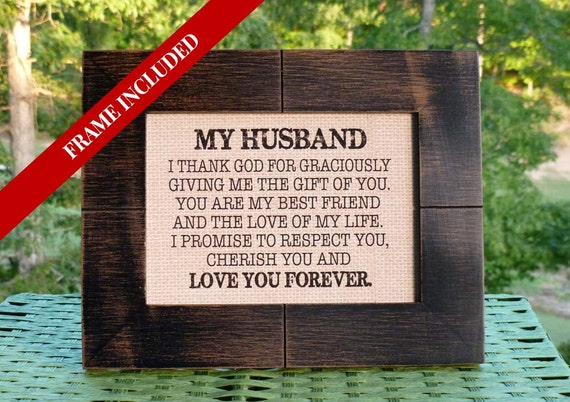 Wedding Gift From Bride To Groom Husband Valentines Etsy
