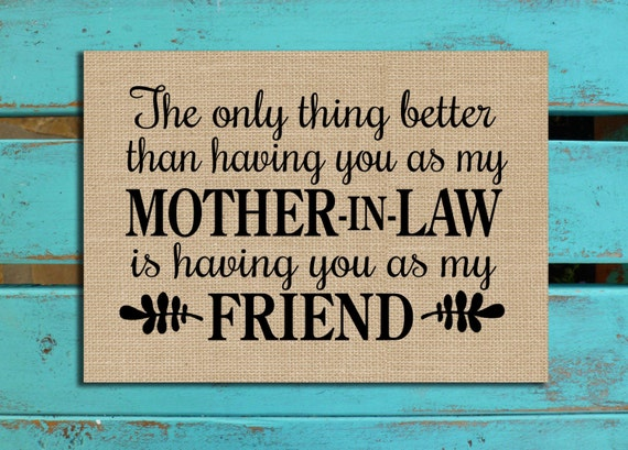Mother In Law Gift Mom Gift Mothers Day Gift Mom Quote Etsy