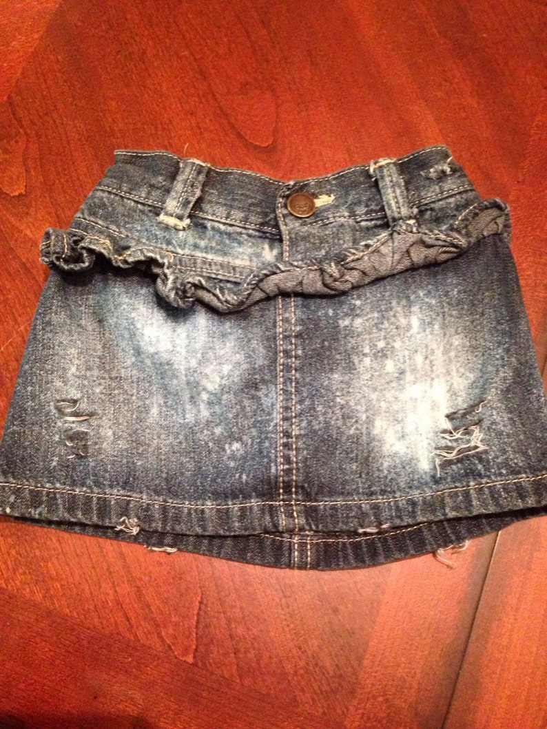 d2d9b53e4 Distressed baby girl Old Navy jean skirt 12-18 month Ready   Etsy
