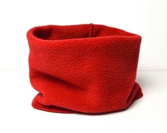 Loop Scarf Scarf Loop Scarf Turtle Neck Scarf Neck Warmer Neck Sock Winter Warm Fleece Cuddly Red Cuddly Fleece