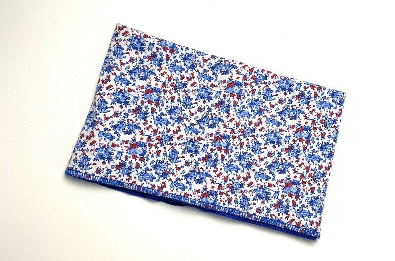 Neck warmer nose-mouth scarf loop cloth cotton jersey royal blue blue floral neckscarf scarf neck sock