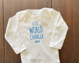 Little World Changer Baby Bodysuit, Be the Change, Future World Changer, Down Syndrome Awareness