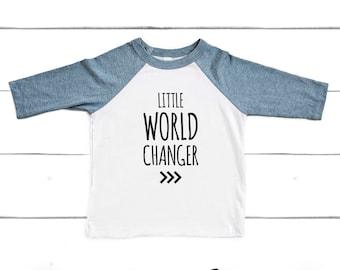 Little World Changer Raglan Tee, Change the World Tee, Down Syndrome Awareness Shirt