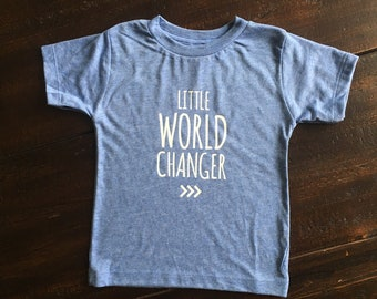 Little World Changer Tee, Toddler/Kids Shirt, Change the World, Be the Change, Down Syndrome Awareness Tee
