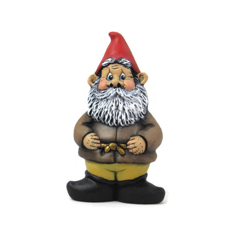 5 inches hand painted for lawn or garden Ceramic Garden Gnome outdoor or indoor