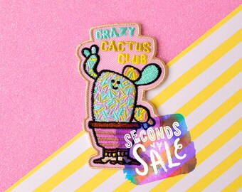SECONDS SALE Crazy Cactus Club embroidered patch