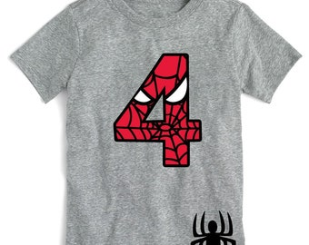 21a1065a Spiderman Inspired Birthday Shirt TEE with Custom Name Spider-Man Shirt  Spiderman Birthday Spider-Man Birthday Shirt