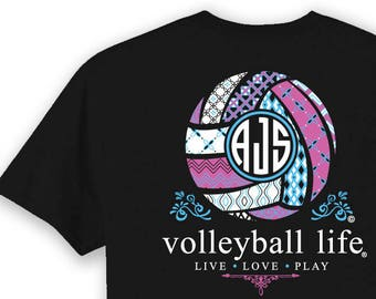 Volleyball Shirt Etsy