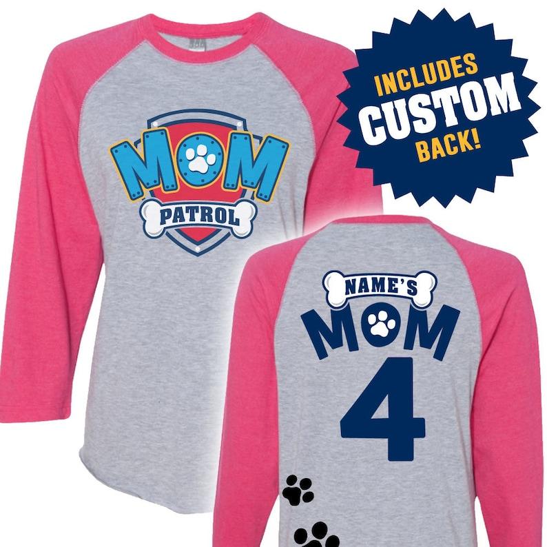 9bc67b7e Paw Patrol Inspired Birthday Shirt MOM PATROL birthday shirt | Etsy