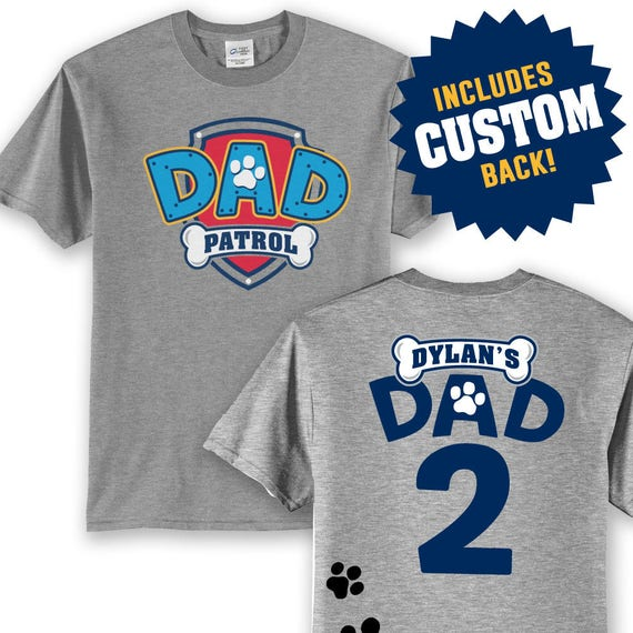 Paw Patrol Inspired Birthday Shirt DAD PATROL