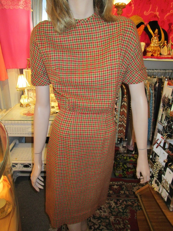 Vintage 1950s Wool Wiggle Dress