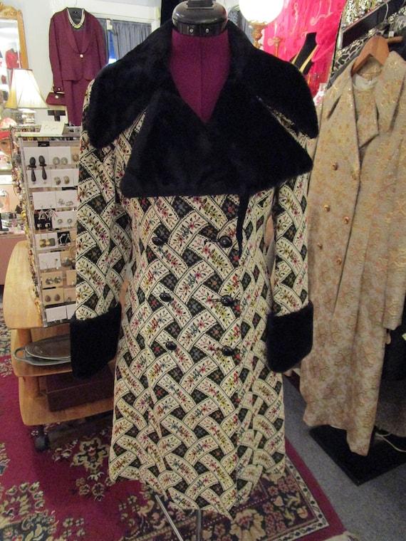 Vintage Tapestry Coat and Skirt Set