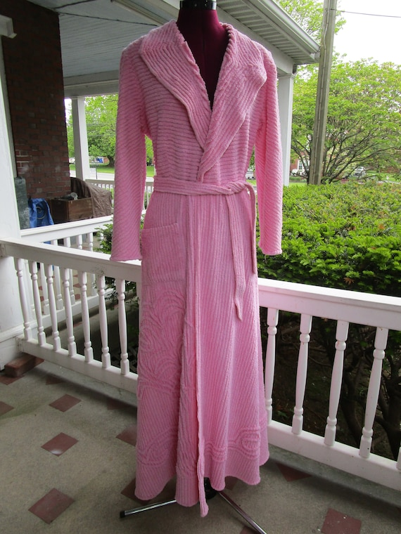 Vintage 1950/60 Pink Terry Cloth Robe