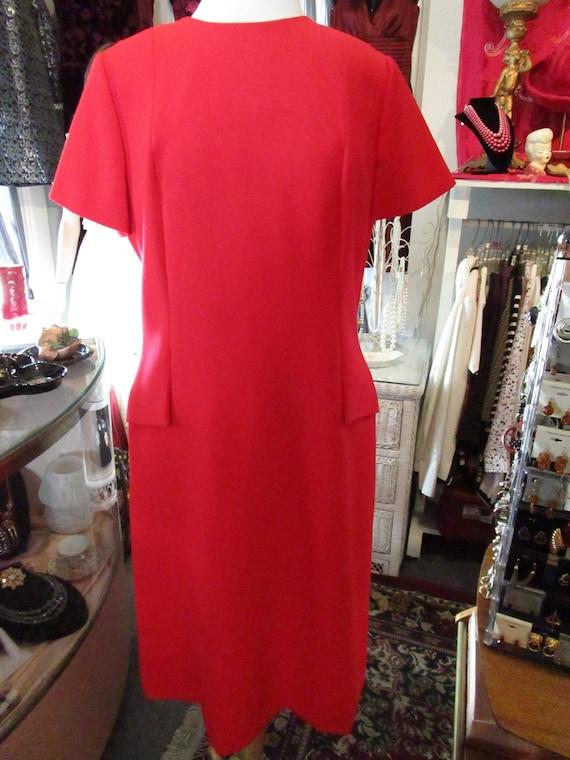 Vintage Nat Kaplan Red Wool Dress