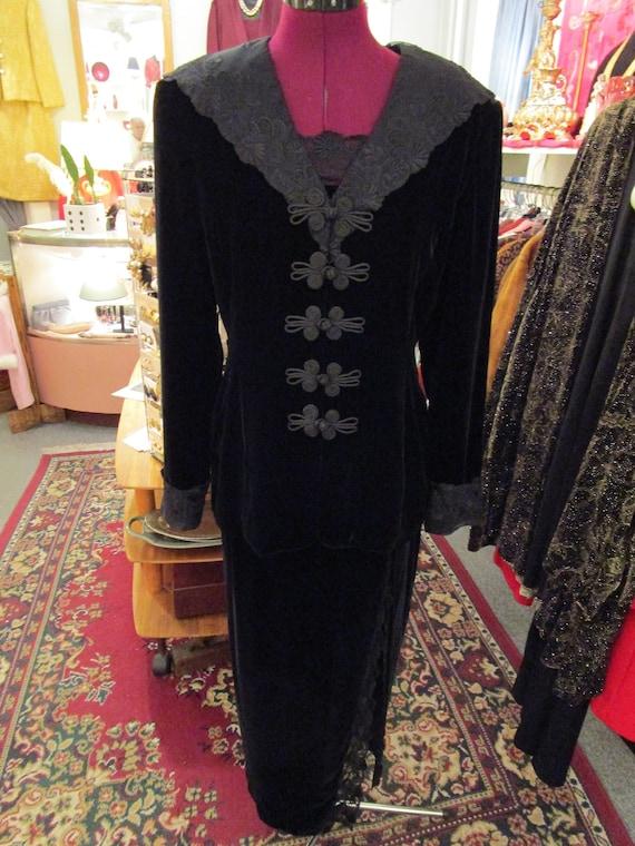 Jenna Three Piece Black Velvet Outfit