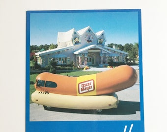 "oscar mayer wienermobile gingerbread house at ""give kids the world"" 1980"