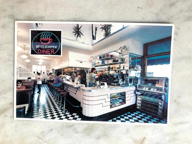 vintage bettes ocean view diner berkeley california postcard