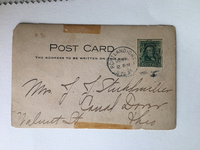 incredible antique postcard from 403 larrabee st in portland oregon sender includes note marking their room in picture