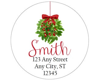 christmas address labels merry christmas wreath round etsy