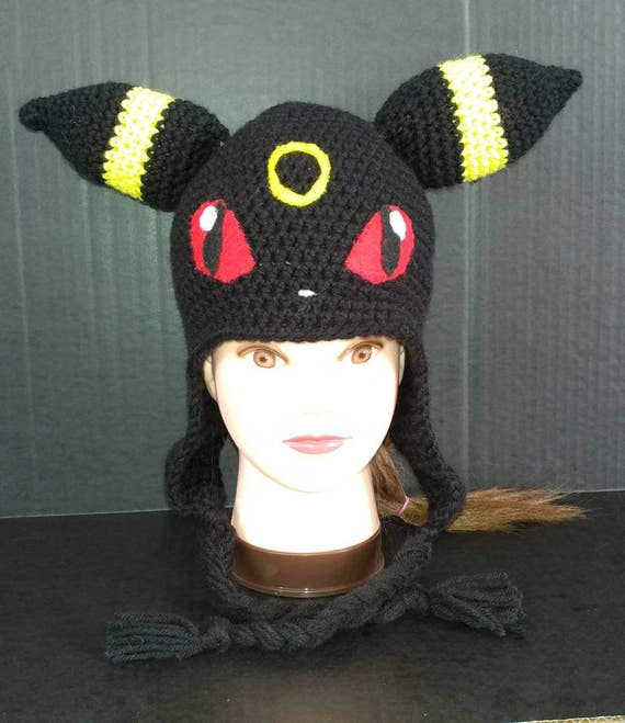 Umbreon Hat Umbreon Cosplay Umbreon Beanie Pokemon Hat Etsy