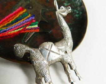 Silver Llama Pin - Vintage