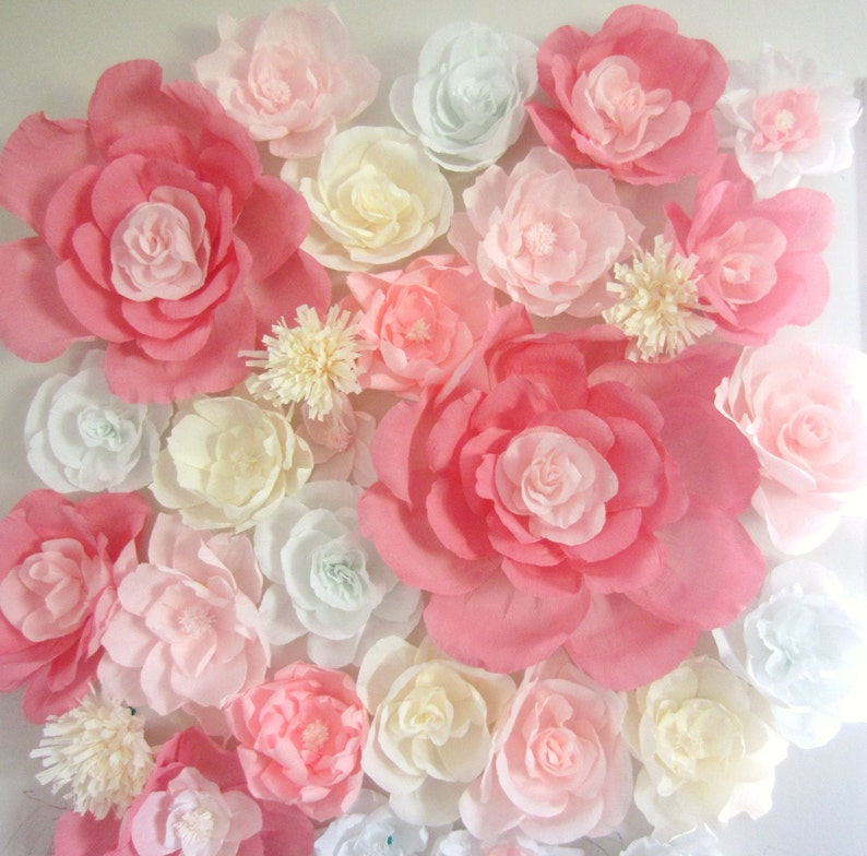 Giant Paper Flower Wall Display 4ft X 4ft Wedding Backdrop Shop Window Display Nursery Decor Baby Shower Flower Wall Wall Paper Flowers