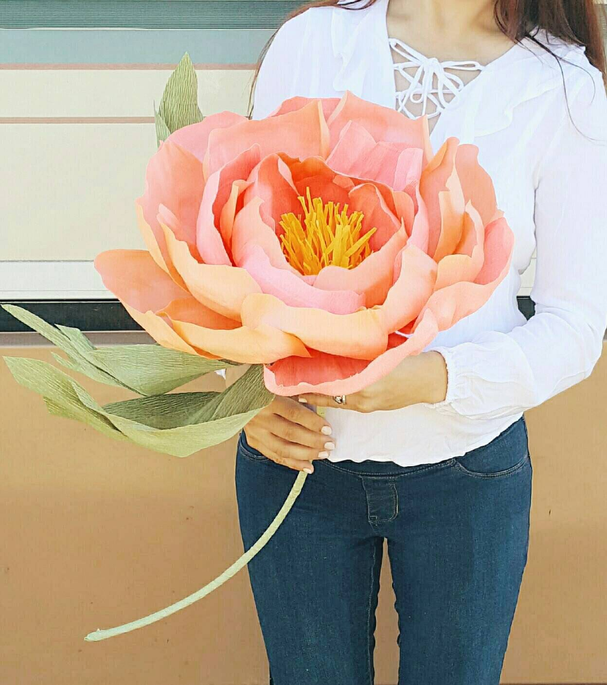 Giant Paper Flower Huge Paper Peony Photo Prop Alice In Etsy