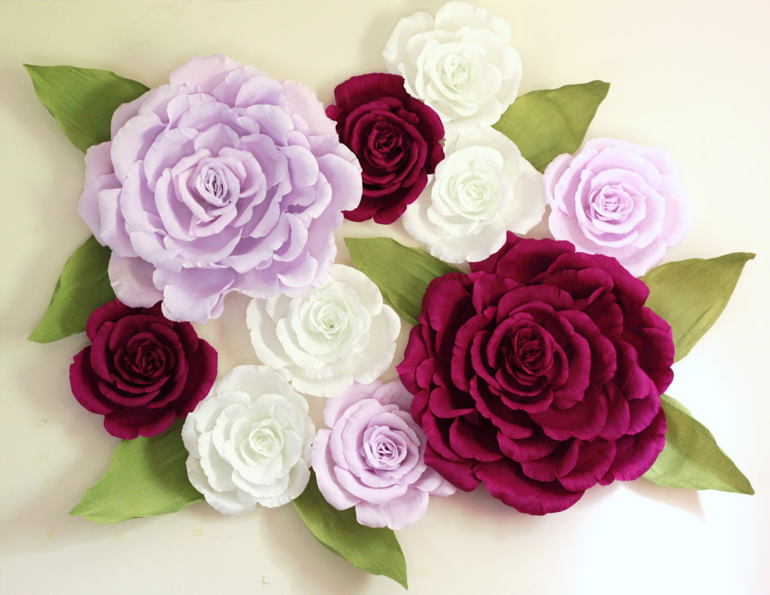 Giant Paper Flower Wall Display 5ft X 5ft Purple Wedding Etsy