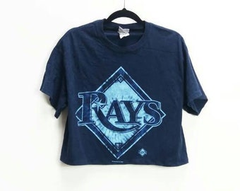 0a42d4d4e Rays Crop Top Vintage Tampa Bay Rays T-Shirt Rays Baseball Team Top Navy  Crop Top American Sports Team Crop Tee Vintage Crop T-Shirt Rays