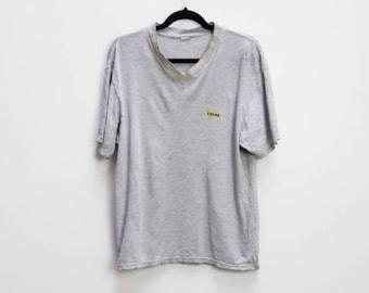 d428ae282b1f Grey Cola T-Shirt Vintage Gray Graphic T Shirt Vintage Grey Extra Large Top  Vintage Gray Colas Graphic Vintage XL V-Neck T-Shirt Distressed
