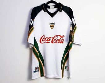 80a6e2c7b10 Rugby Shirt Vintage Irish Rugby Shirt Vintage Coca Cola Rugby T-Shirt  Vintage White Ireland Rugby Sports Top Men's Medium Rugby T-Shirt M