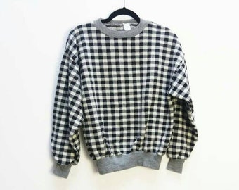 Checkered Sweater Etsy