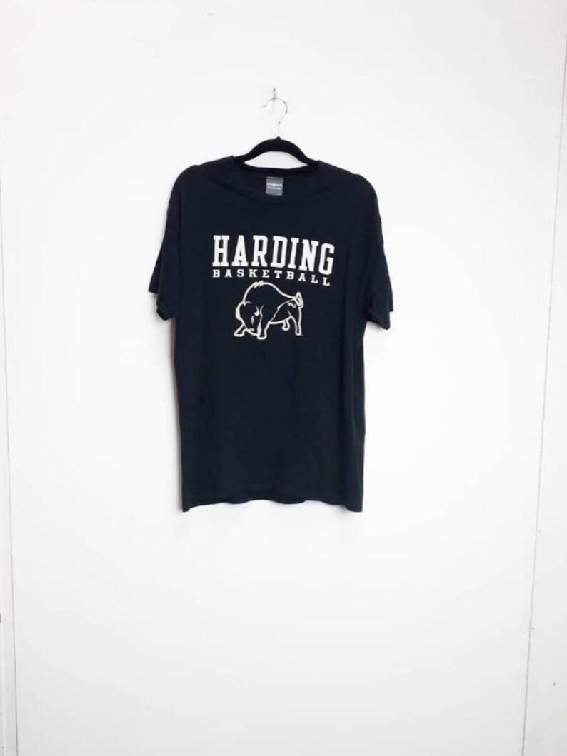 Basketball T-Shirt Vintage Harding Basketball T-Shirt Vintage Black Graphic Tee Large Black Basketball Sports T-Shirt Vintage Large Top L