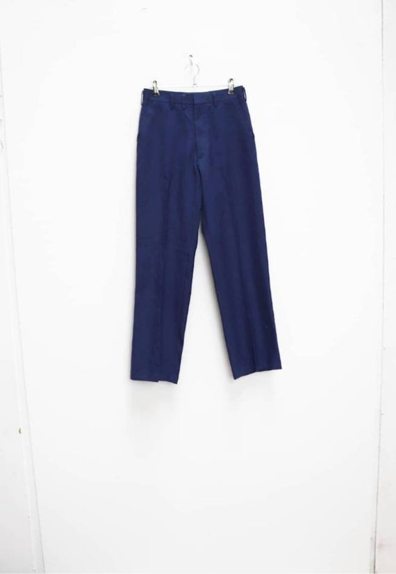 Blue Trousers Vintage Small Trousers Women's Blue