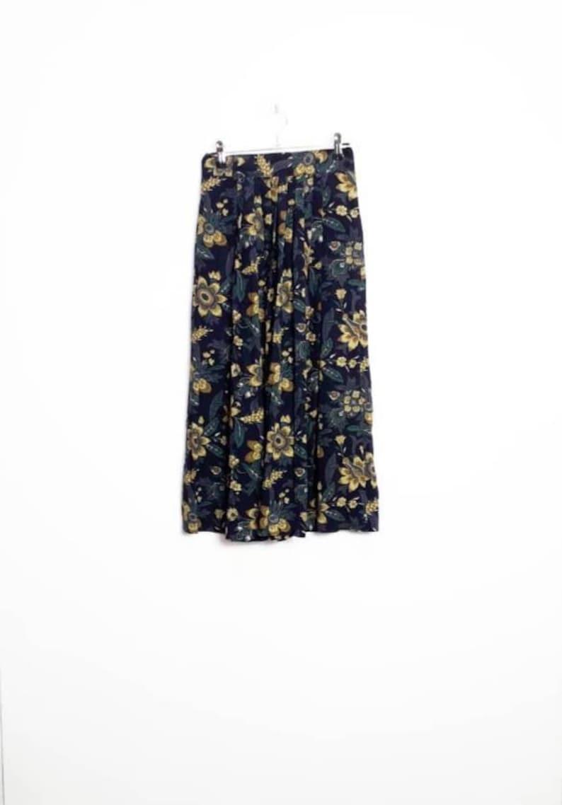 68a2c2bb2 Floral Midi Skirt Vintage Flower Print Midi-Skirt Women's | Etsy