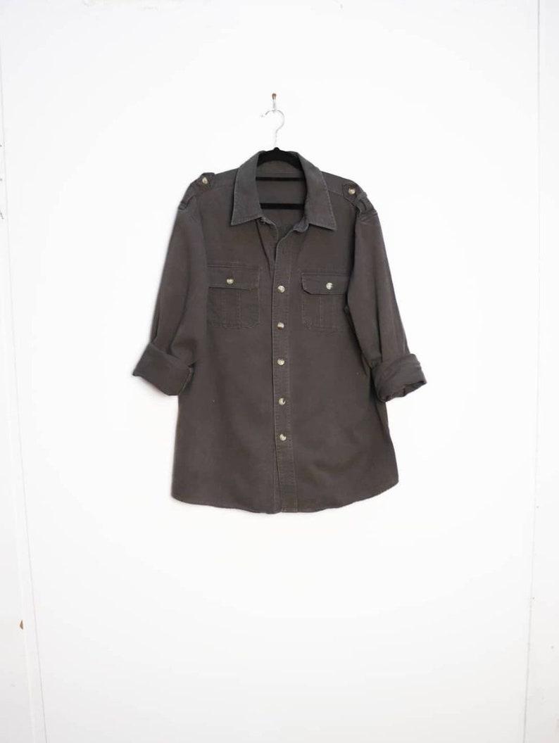 Grey Cotton Shirt Vintage Gray Shirt Medium Men/'s Shirt Grey Button Down Shirt Gray Button-Down Shirt Vintage Grey Shirt Gray Cotton Shirt M