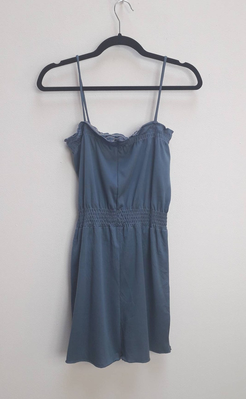 Blue Playsuit Vintage Small Blue Romper Sleeveless Playsuit Women/'s Comfy Romper Strappy Playsuit Small Vintage Small Romper Ladies Playsuit