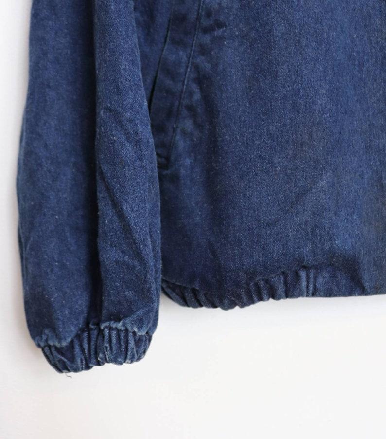 Zip-Up Denim Jacket Vintage Blue Denim Jacket Extra Large Jacket Zip Up Denim Jacket Vintage Blue Jean Jacket XL Zip-Up Denim Coat Vintage