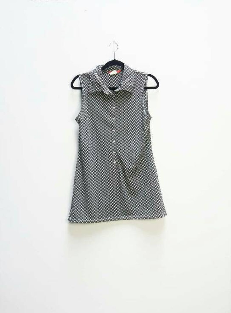 ffd30940c42 Plaid Mini Dress Vintage Black Checkered Mini-Dress