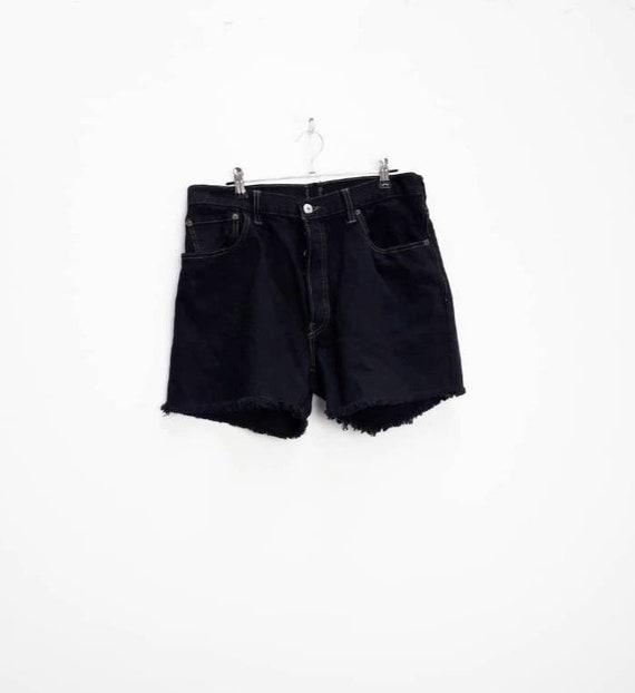 Levi's Denim Shorts Vintage Black Denim Shorts Bla