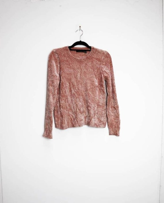 Pink Chenille Jumper Vintage Pink Chenille Sweater